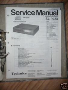 Tv, Video & Audio UnermüDlich Service-manual Technics Sl-pj33 Cd-player,original