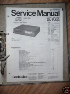 UnermüDlich Service-manual Technics Sl-pj33 Cd-player,original Tv, Video & Audio