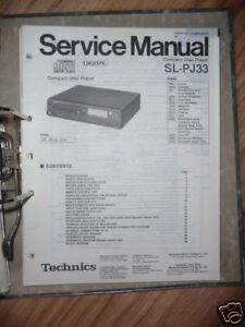 Anleitungen & Schaltbilder UnermüDlich Service-manual Technics Sl-pj33 Cd-player,original