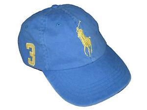 a544666370d83 Polo Ralph Lauren Light Blue Yellow Big Pony Ball Cap Shirt Hat ...