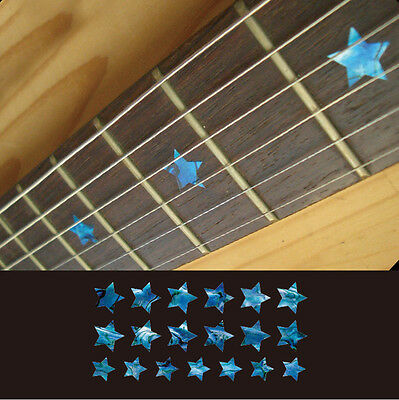 Star (Abalone Blue) Fretboard Markers Inlay Stickers Decals Guitar