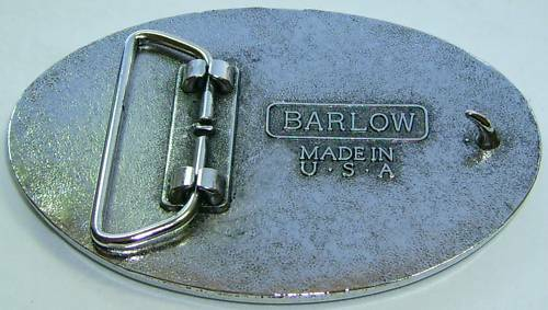 Belt Buckle Barlow Photo Reproduction in Color Wolf Pair Wolves Silver 592519c