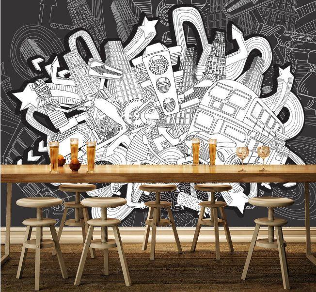 3D Graffiti City 50 Wall Paper Wall Print Decal Wall Deco Indoor AJ Wall Paper