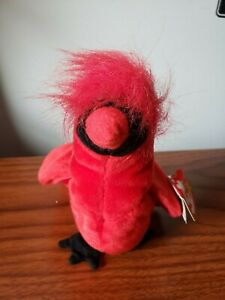 TY Beanie Baby \u201cMac\u201d The Cardinal \u2013 Rare with 4 Errors