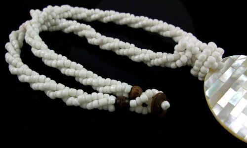 Natural Mosaïque Nacre Coquillage Pendentif Perles Collier Femmes Bijoux EA080