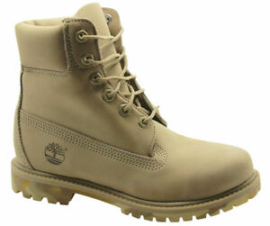 5ac3bc13a60 Timberland AF Premium Nubuck 6 Inch Womens Boots Camo Sole Beige ...