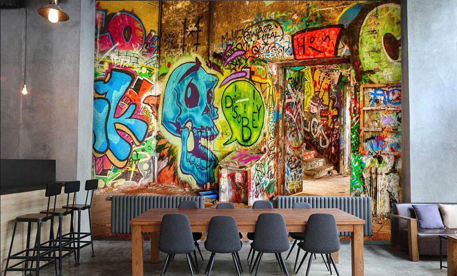 3D Farbe Graffiti Room 42 Wall Paper Wall Print Decal Deco Indoor Wall Mural CA