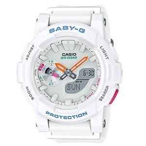 d4bd5e411 Details about Casio Baby-G BGA-185-7A White Analog Digital Women's Sports  Watch