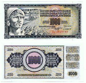 Jogoslawien-Yugoslavia-Pick-92d-1000-Dinara-1981-UNC