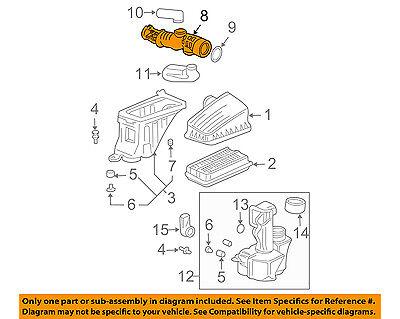 06-08 17228PVJA10 Genuine Honda Pilot Air Cleaner Intake Duct Hose Tube OEM