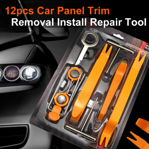 12 pcs Tools Kit Car Auto Door Trim Panel Dash Audio Stereo Radio Removal Pry