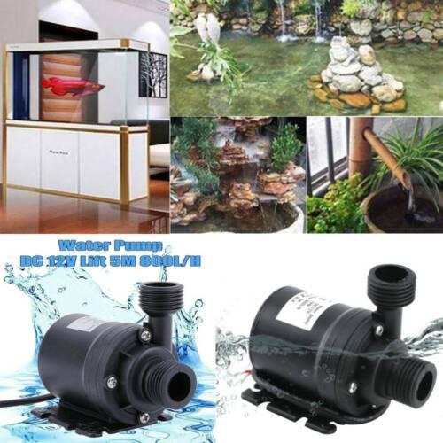 Ultra Quiet Mini DC 12V 5M 800L//H Brushless Motors Submersible Water Pump/_$