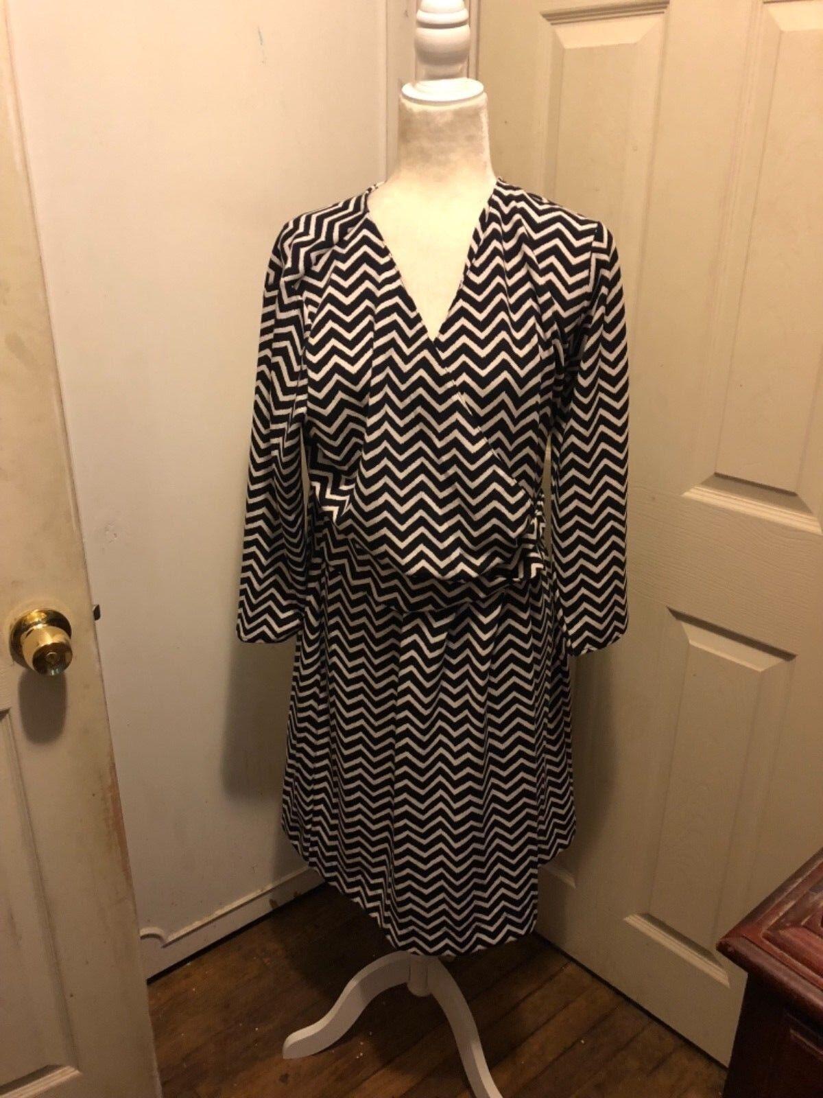 Talbots Faux Wrap Dress Size Large