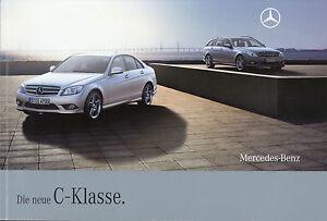 Mercedes-C-Klasse-Prospekt-2007-31-8-07-Autoprospekt-brochure-Limousine-T-Modell