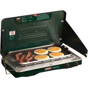 Camping Stove 2 Burner Coleman Portable Propane Gas Outdoor Camp Grill Griddle