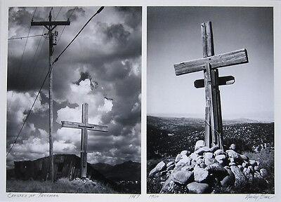 "MORLEY BAER Signed Original Unique 1960-87 Photograph - ""Crosses at Truchas"""