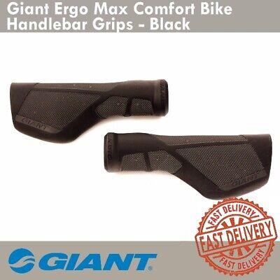 Giant Ergo Max Comfort Bike Handlebar Grips Hybrid Commuter Black//White