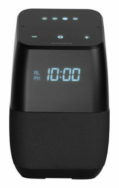 Insignia Voice Smart Bluetooth Speaker with Google Assistant - Black