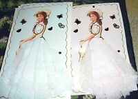 U Pick Pink Or Blue Handkerchief Hanky Lace Edge Southern Belle In Bonnet Chic