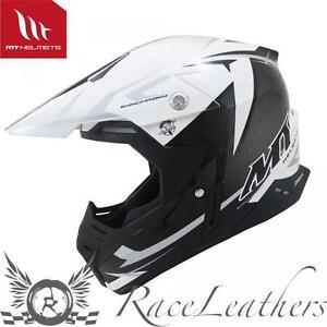 Ravissement Mt Synchrony Acier Mx Moto-x Motocross Casque Moto Noir Blanc Gris Une Grande VariéTé De ModèLes