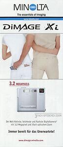 100% Wahr Prospekt Minolta Dimage Xi 8/02 2002 Folder Digitalkamera Kamera Broschüre Feine Verarbeitung