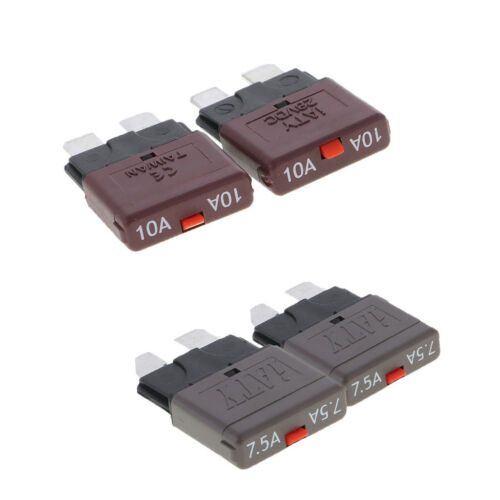 4 Pieces Universal 10Amp+7.5Amp Mini Blade Fuses for Auto Car Truck Boat