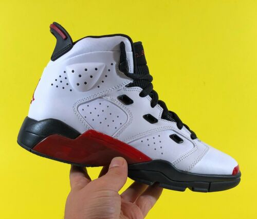 White Gym Red Black Boys Basketball Shoes Size 5.5Y GS Air Jordan 6-17-23