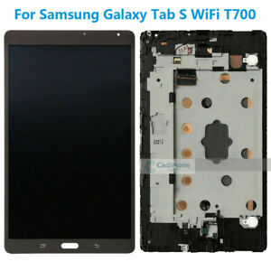 For-Samsung-Galaxy-Tab-S-WiFi-SM-T700-LCD-Display-Touch-Screen-Digitizer-Frame