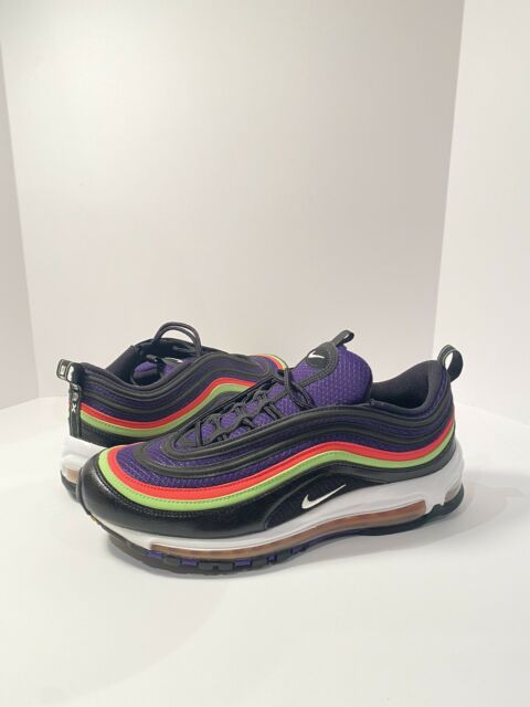 Nike Air Max 97 Black White Court Purple Cu4890 001 Mens Size 11