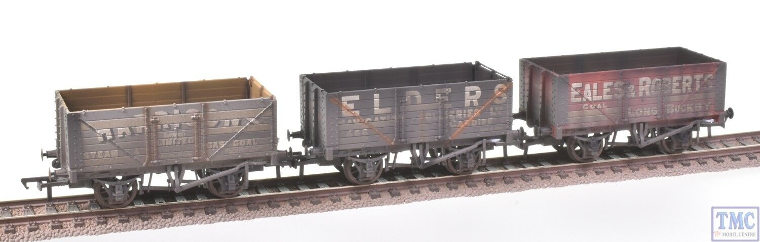 37-095A Bachuomon OO 7 7 7 Plank Coal Trader PO Wagons (Triple) Deluxe Weatherosso d9d919