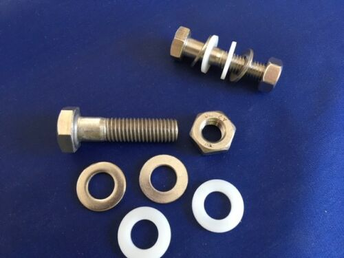 2 WASHERS NYLON /& A4 M6 A4 316 MARINE GRADE STAINLESS PART THREAD BOLTS NUTS
