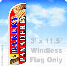 Bakery Panaderia Windless Swooper Flag Feather Banner Sign 3x115 Rq