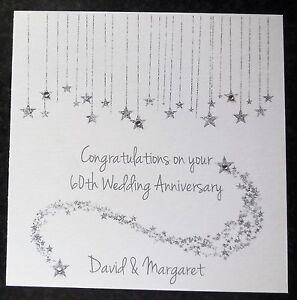 Personalised handmade 60th diamond wedding anniversary card ebay image is loading personalised handmade 60th diamond wedding anniversary card m4hsunfo