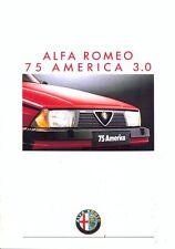 ALFA ROMEO 75 AMERICA 3.0 Swiss Market Full Colour BROCHURE DI VENDITA 1988