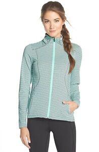NWT-Lole-039-Essential-2-039-Stripe-Jacket-Size-Small-Aqua-100-Light-Green