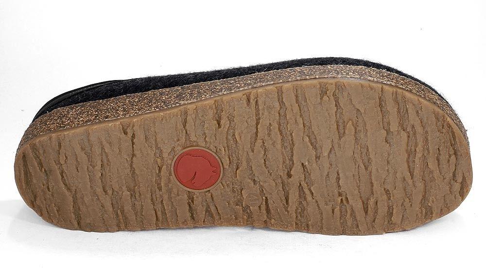 Haflinger Filztoffel GRIZZLY TORBEN Hausschuhe graphit grau Wollfilz 713001 NEU