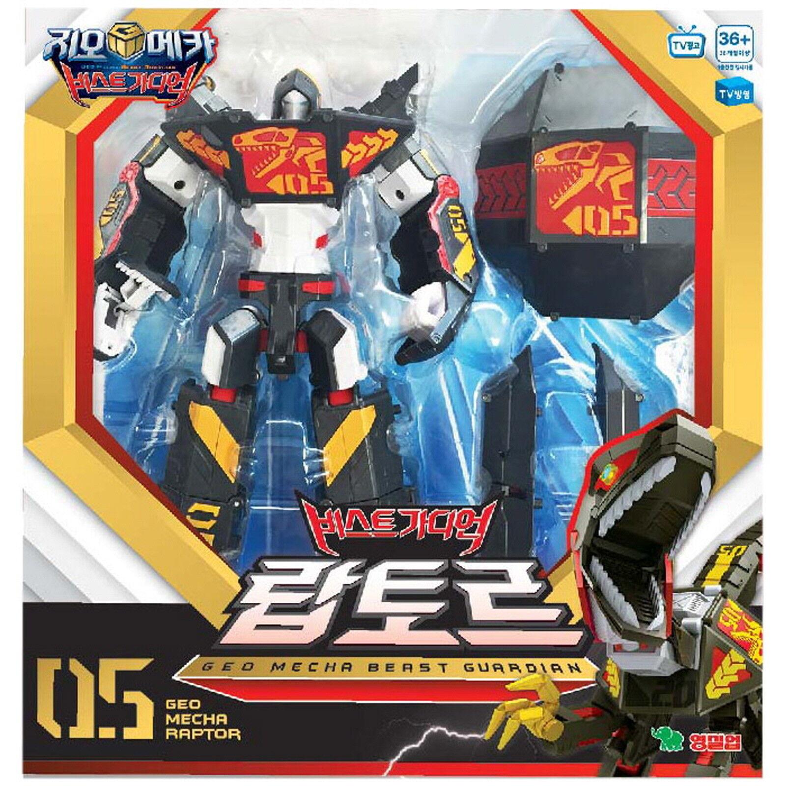 Geo Mecha Beast Guardian RAPTOR Transformer Robot Dinosaurs Toy Action Figure
