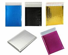 Pick Size Metallic Bubble Mailers Shipping Mailing Padded Bags Envelopes Glamour