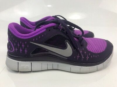 new arrival e5b65 5f059 Women's NIKE FREE RUN 3 5.0 purple fabric sneakers shoes sz. 5.5 Flyknit  Running | eBay