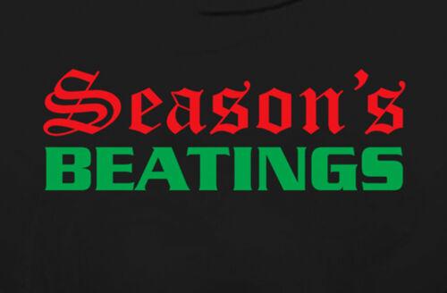 Fetish Holiday Greeting T-Shirt Gildan Cotton Black Seasons Beatings Funny