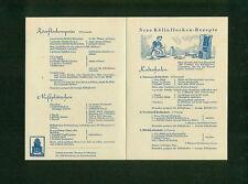 Altes Rezept-Faltblatt Köllnflocken 1950er  Neue Rezepte Zeichnung Foto