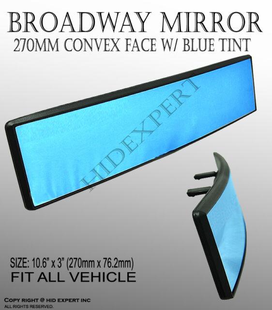 """JDM 1 pc 10.7"""" 100% Broadway Clip On Rear Mirror Curve Blue View Fit all Cars BQ"""
