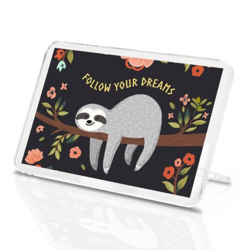 Dreams Flowers Kid/'s Pretty Gift #13267 Funny Lazy Sloth Classic Fridge Magnet