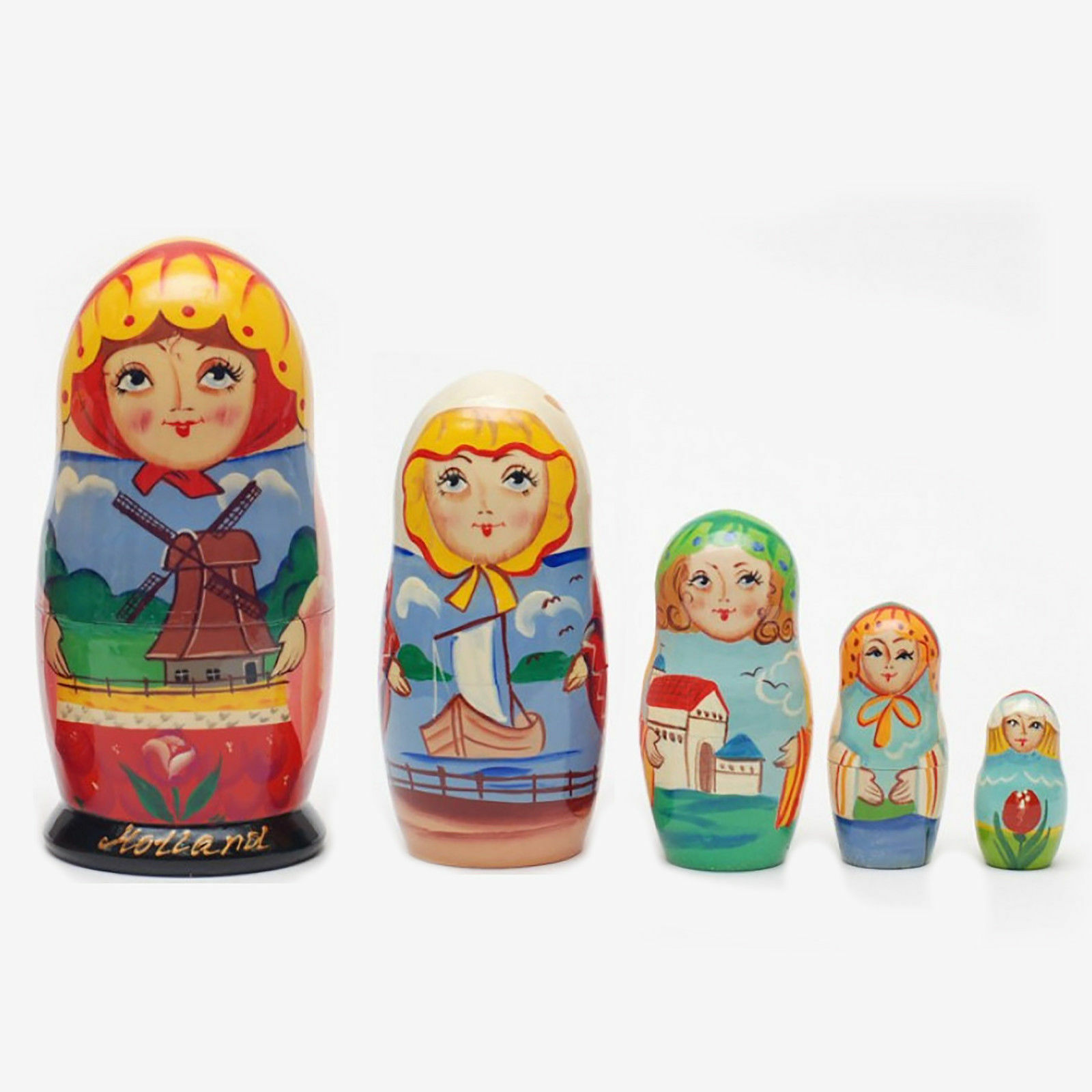 design unico Nesting Nesting Nesting bambolas Holle matryoshka He painted Signed russian baautobushka bambola  memorizzare