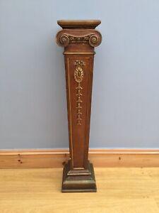 Antique-Pedestal-Plant-Torchere-Stand-Ceramic-Victorian-Lamp-Jardiniere-Old-Bust