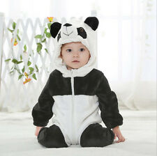 Kids Baby Boy Girl Cosplay Costume Romper Jumpsuit Hooded Warm Clothes Size 0-4M