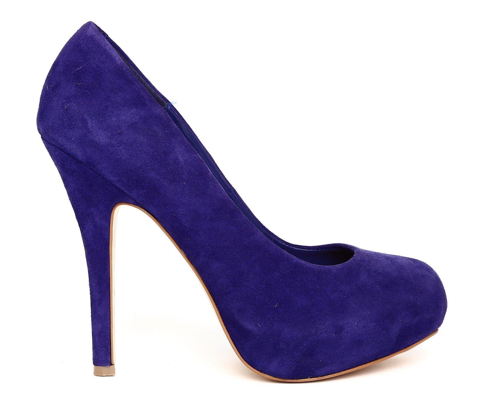 Steve Madden Traisie Purple Suede Leder Heels Damenschuhe Platform High Heels Leder Sz 7.5 1128 7129a4