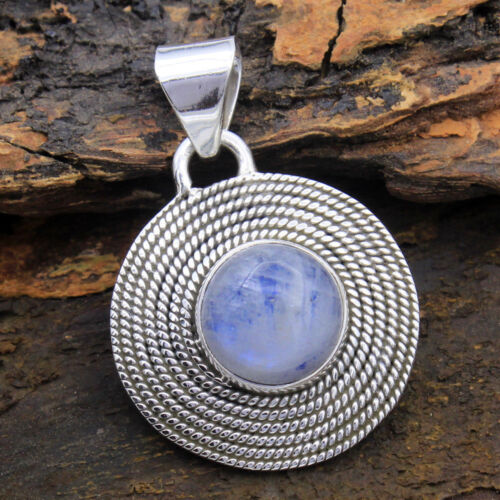 Beautiful Travel Jewelry Box with Silver Round Moonstone Necklace in it