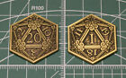 D&D Pass / Fail Coin Inspiration Token Gold D20 Metal Dice Dungeons & Dragons