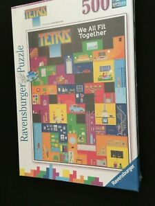 RAVENSBURGER TETRIS JIGSAW PUZZLE - 500 PIECE - BRAND NEW AND SEALED